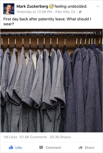 Mark Zuckerberg's identical outfits